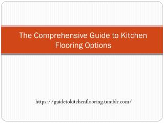 Guide to Kitchen Flooring