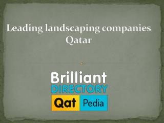 Leading landscaping companies in Qatar