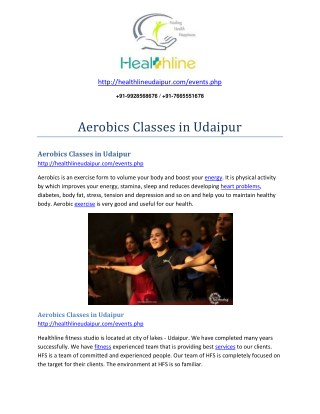 Aerobics Classes in Udaipur