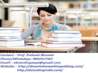 eBranding India in Nagpur is an Premium PhD Thesis Writing Services