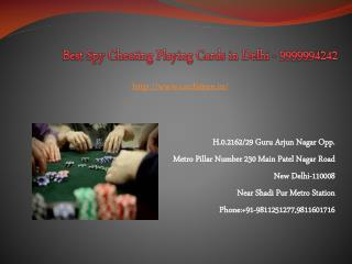Spy Cheating Marked Playing Cards in Delhi