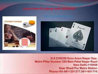 contact lenses for playing cards Delhi India
