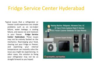 Fridge Service Center Hyderabad