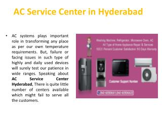 Ac Service Center Hyderabad
