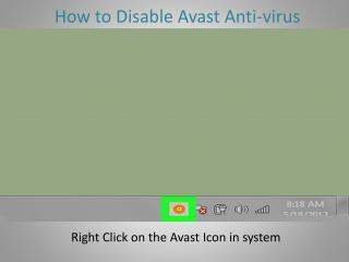 How to Disable AVAST Antivirus