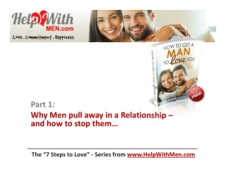 Why Men pull away in a Relationship – and how to stop them…