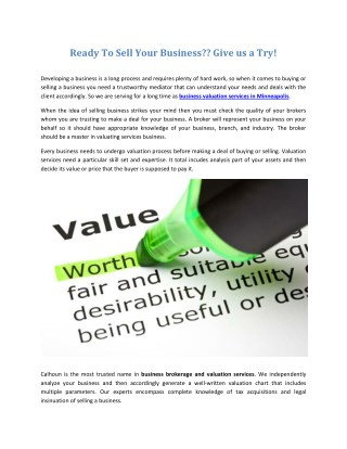 Business Valuation Services in Minneapolis