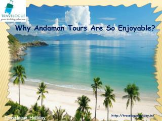 Why Andaman Tours Are So Enjoyable?