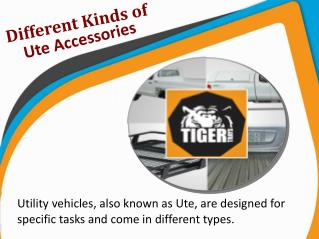 Different Kinds of Ute Accessories