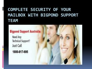 Get Complete Tech support and help with the help Of Bigpond Support