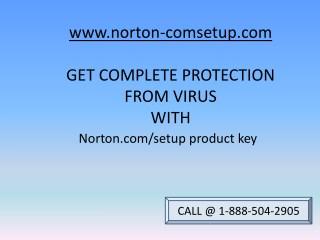 Keep PC infection free with Norton.com/setup product key @1-888-504-2905