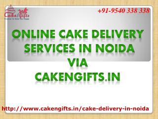 Online cake delivery services in noida