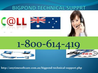 Ping Bigpond Technical Support Phone Number 1-800-614-419 anytime.