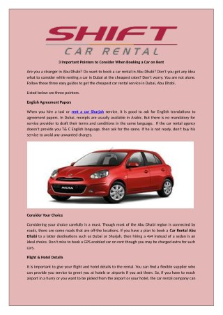 Choose the best Rent car services in dubai