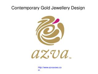 Contemporary Gold Jewellery Design