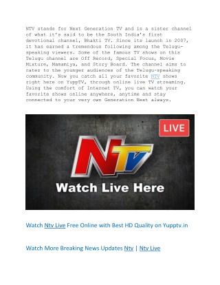 Ntv live   Ntv   Ntv News Telugu