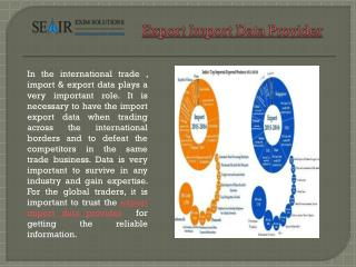 Which Is Best Export Import Data Provider Company In India?