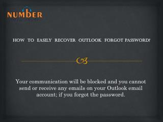How to easily recover outlook forgot password?