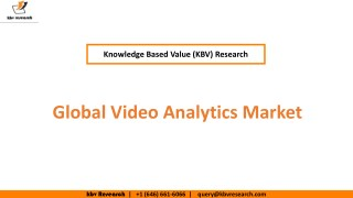 Global Video Analytics Market Growth and Trends,Share