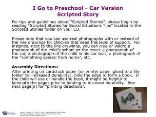 I Go to Preschool - Car Version Scripted Story
