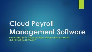 Cloud Payroll Management Software