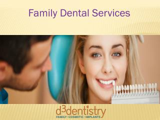 Family Dental Services