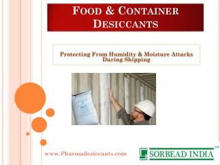 Food & Container Desiccants