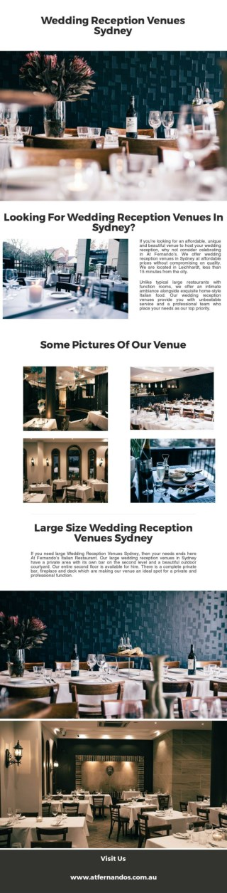Searching For Wedding Reception Venues Sydney?