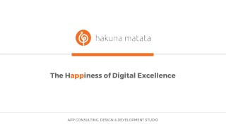 Hakuna Matata Company Profile - Best Indian Mobile app portfolios