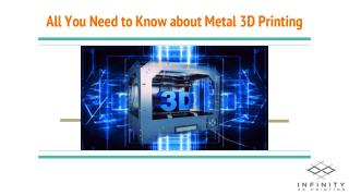 All You Need to Know about Metal 3D Printing