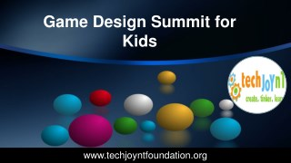Game Design Summit For Kids