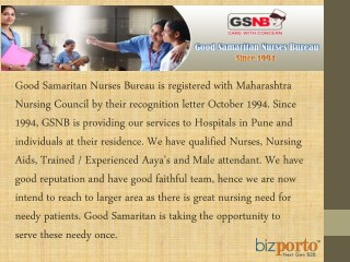 Helping Samarita Nursing Care Service at home & hospital In pune
