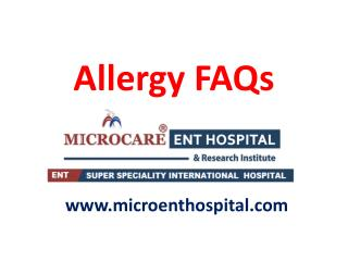 Allergy Causes,Symptoms,Treatments,FAQs | Allergy Treatment in Hyderabad