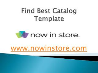 Find Best Catalog Template - www.nowinstore.com
