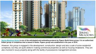 Spring meadows Noida - High-Class Apartments in Noida