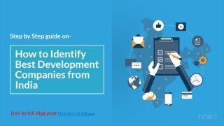 How to Identify Best Development Companies from India