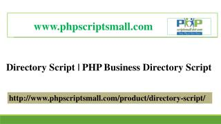 Directory Script |PHP Business Directory Script