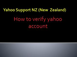How To Recover a Yahoo Account
