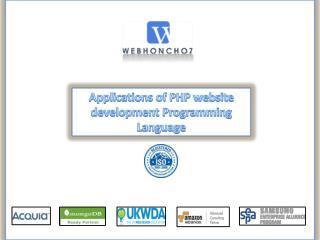 Applications of PHP website development Programming Language