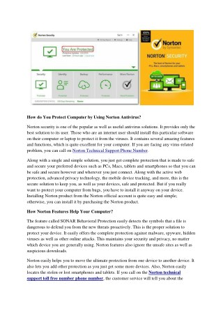 How do You Protect Computer by Using Norton Antivirus