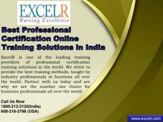 Best Professional Certification Online Training Solutions in India