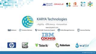 KARYA Technologies' IBM Cognos