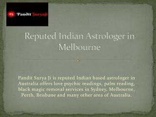 Reputed Indian Astrologer in Melbourne Australia