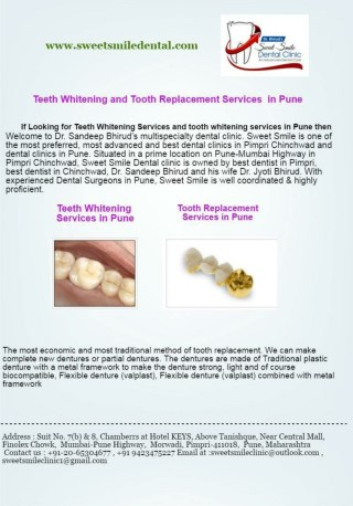 Teeth Whitening Cost in Pune-Sweet Smile Dental