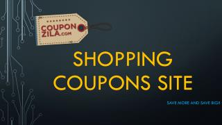 Shopping Coupons and Discounts