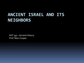Ancient Israel and its Neighbors
