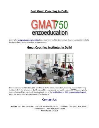 Best Gmat Classes in Delhi