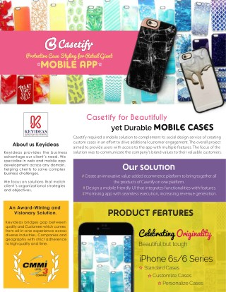Casetify Mobile App: Protective Case Styling for Retail Giant | Keyideas Infotech