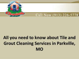 All you need to know about tile and grout cleaning services in Parkville, MO