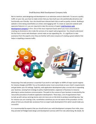 Small Business Web Development   Wordpress Website Development Services
